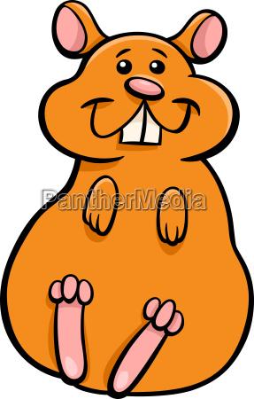 hamster animal character cartoon illustration