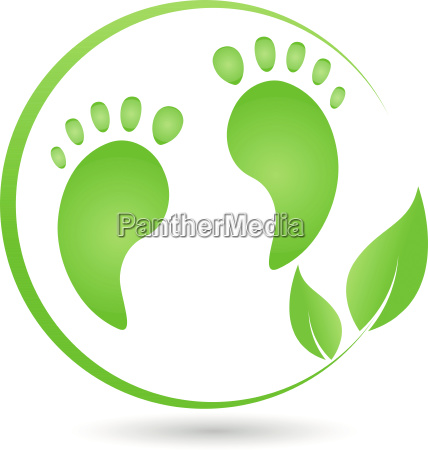 two feet and plant logo foot