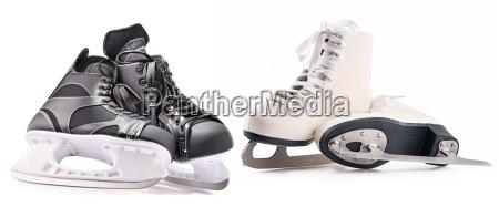 ice hockey skates and figure skates