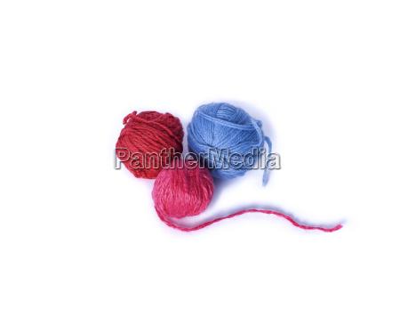blau freisteller farbe weich wolle faden