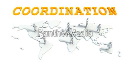koordinationskonzept mit business team