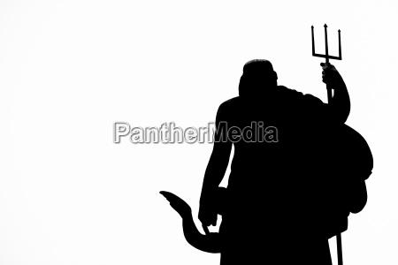 neptune statue silhouette
