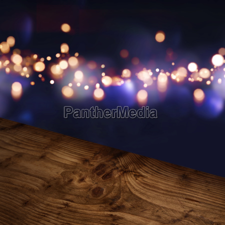 diagonal wooden table top with blue