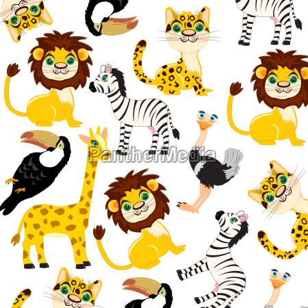 animals of the africa pattern