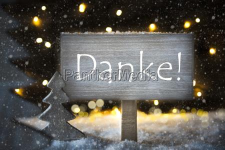 white christmas tree danke means thank
