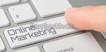 keyboard with labeled key online marketing