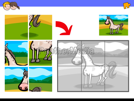 jigsaw puzzles with horse farm animal