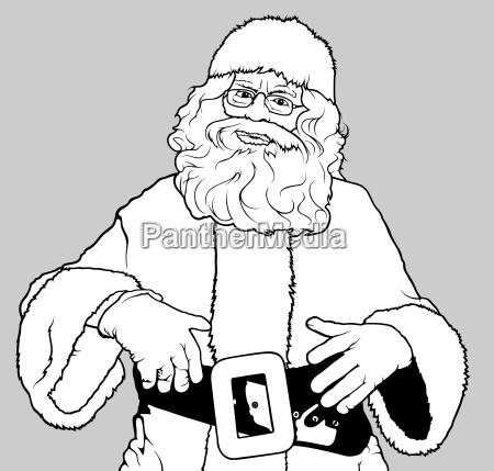 santa claus standing