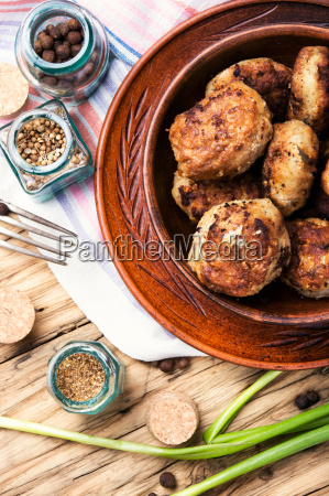 fried homemade cutlets