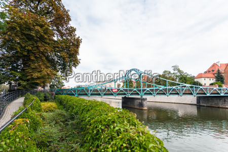 tumski bridge over oder river in
