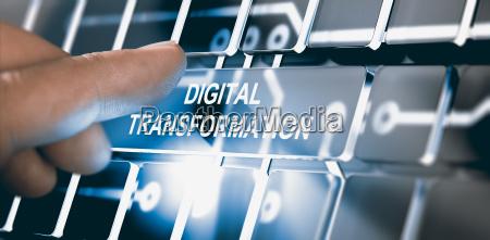 digitalisierung digitales transformationskonzept