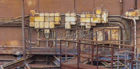 rusty industrial control cabinets