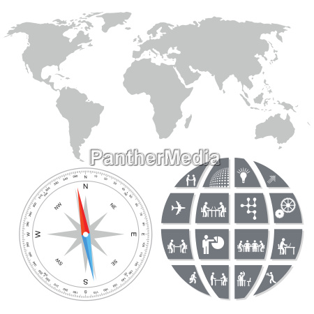 world trade concept illustration