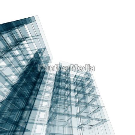 architecture concept 3d rendering