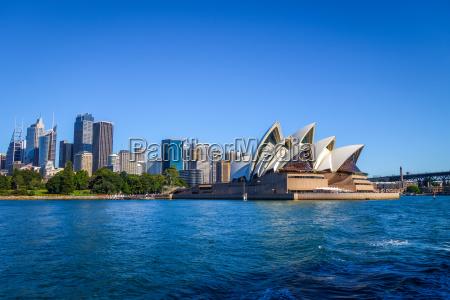 sydney stadtzentrum und opernhaus australien