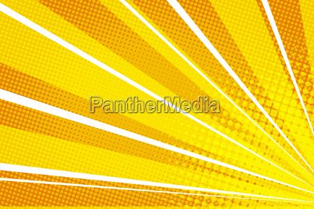 yellow orange pop art rays sunrise