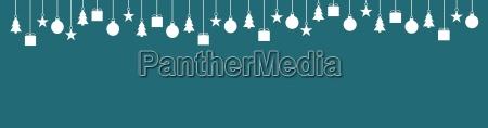breiter banner dunkelblau mit weihnachtsdeko