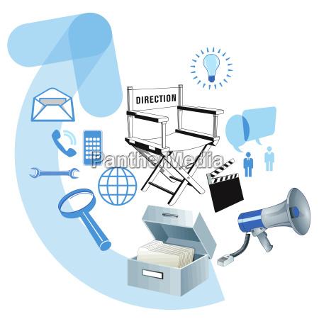 geschaeftliche entwicklung information illustration