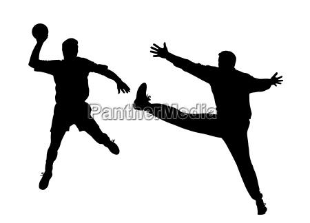 handballspieler und torwart