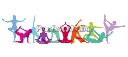 yoga figuren komposition