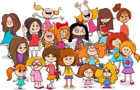 kid or teen cartoon girls characters