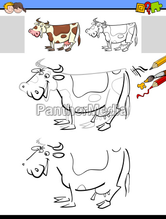 drawing and coloring activity with milker