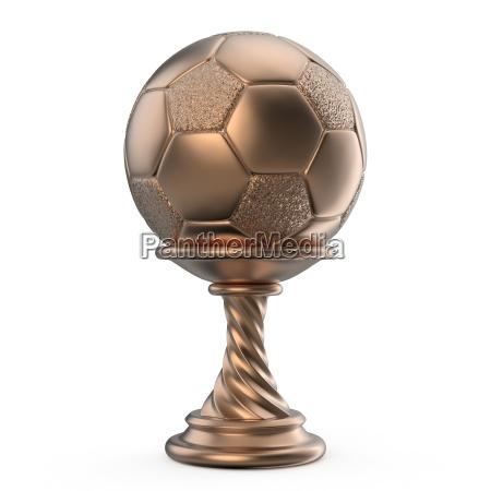 bronze trophaee tasse soccer football 3d