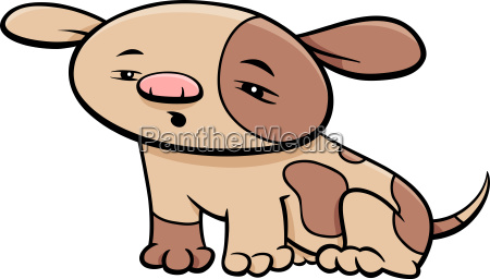 puppy dog character cartoon illustration