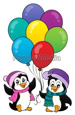 happy party penguins image 1