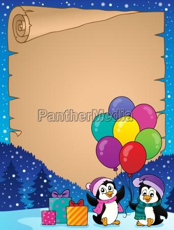 glueckliches partypinguinpergament 2