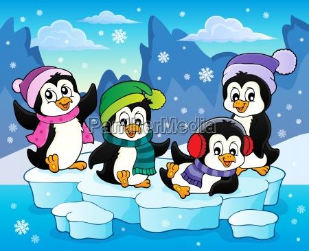 happy winter penguins topic image 2