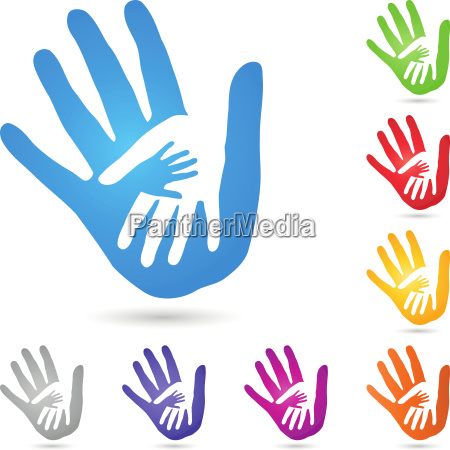 hands physiotherapy vector logo