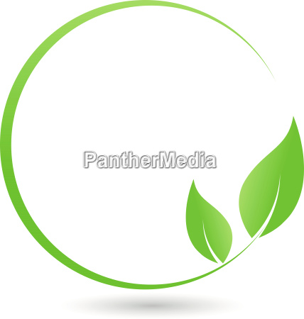 kreis blaetter pflanze heilpraktiker logo