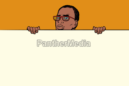 african businessman poster background