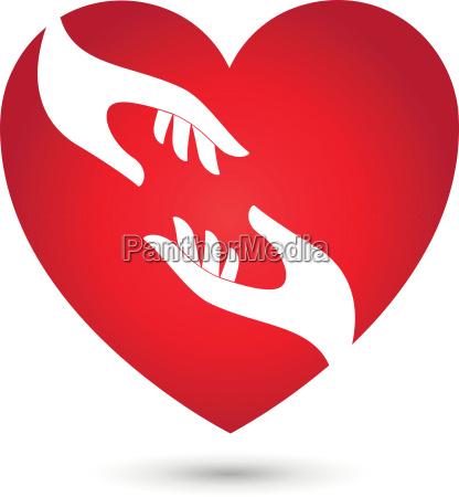 heart and hands heart hands logo