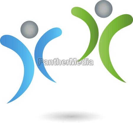 people people couple logo