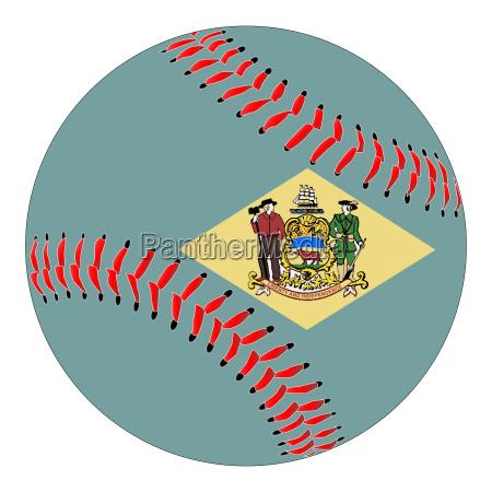 delaware flag baseball