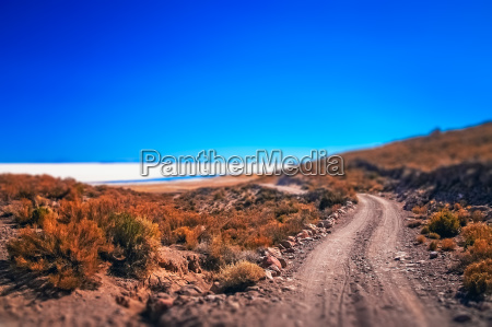 remote road towards salar de uyuni