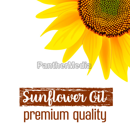 sunflower oil label label and text