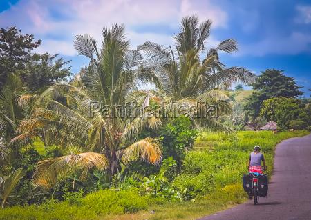 cycling through lombok