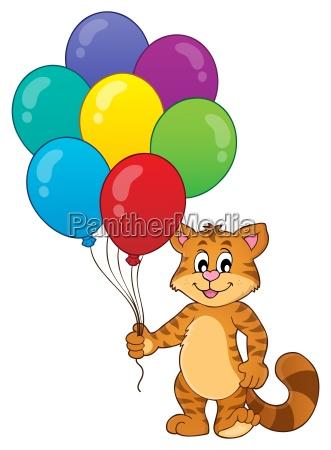 happy party cat theme image 1