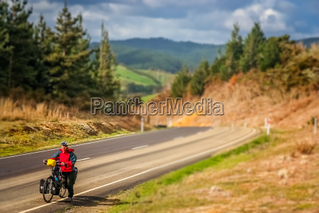 woman on a cycle touring trip