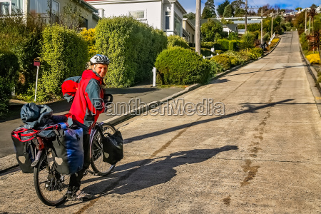 attempting to cycle the steepest road
