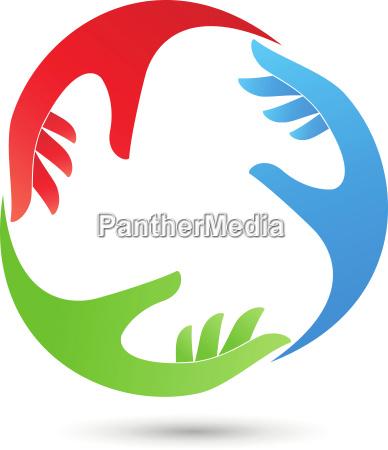 hands helper team logo