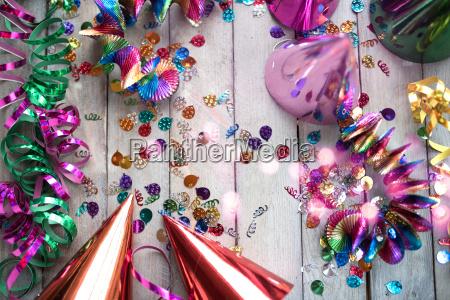 colorful glittering carnival accessories