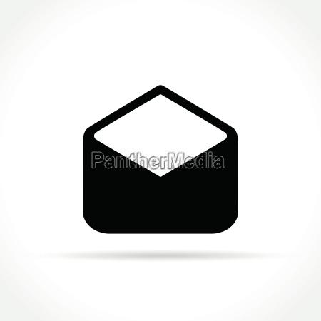 open envelope icon on white background