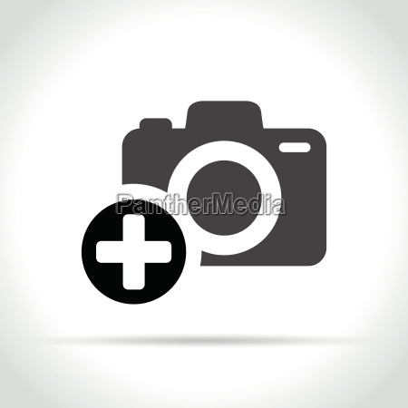 plus sign on camera icon