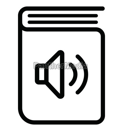 audio book icon on white background