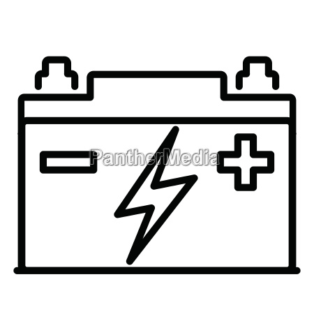 car battery icon on white background