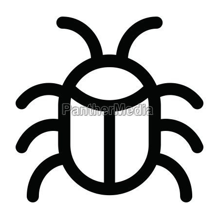 bug icon on white background